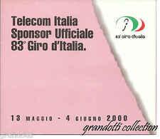 TELECOM 83° GIRO ITALIA 2000 FOLDER E SCHEDE TELEFONICHE NUOVE