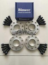 2 x 10mm + 2 x 12mm Silver Alloy Wheel Spacers Black Bolts - BMW F10 F11 F12 F13