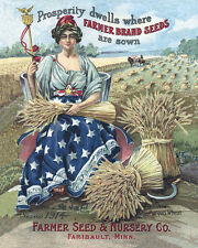 FARMER SEED & NURSERY COMPANY ADVERTISING POSTER