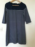 Fat Face Striped Relaxed Fit Dress Size 12