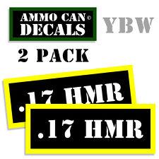 17 HMR Ammo Label Decals Box Stickers decals - 2 Pack BLYW