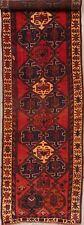 Vintage Tribal Geometric Lori Runner Rug Wool Hand-Knotted Hallway Carpet 4'x12'