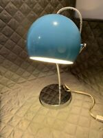 Retro Sky Blue Eyeball And Chrome Desk Lamp