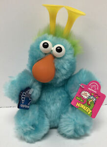 Applause Sesame Street Teal/Green Honker Stuffed Plush 8""