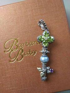 Barbara Bixby .925/18K Peridot and Blue Pearl Key Enhancer