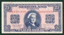 Banknote 2 1/2 Gulden 1945 Niederlande
