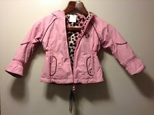 Nwt ZeroXPosur Pink Reversible Leopard Print Lined Winter Coat Toddler size 18M