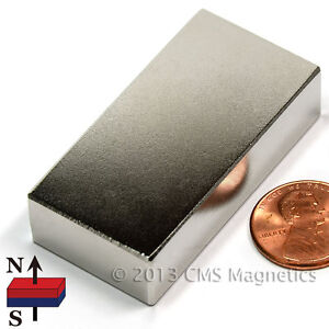 "Super Strong Neodymium Magnet Block 2 x 1 x 1/2"" NdFeB Rare Earth Magnet 4 PC"