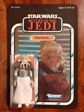 Vintage Star Wars Squid Head Recard 1983 77 Back ROTJ