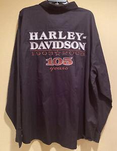 Harley Davidson NWT Embroidered Dress Shirt 105 YEARS Anniversary Men's SZ 3XL