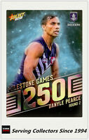 2018 AFL Footy Stars Trading Card Milestones Subset MG25 D. Pearce (Fremantle)