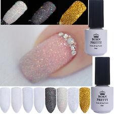10Pcs Nail Glitter Powder Gradient Dust Nail Art Topcoat Base Coat Gel Polish