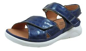 Baerchi Sandals For Woman Blue Leather Soles Removable Wide