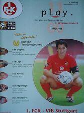 Programm 2000/01 1. FC Kaiserslautern - VfB Stuttgart