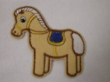 Felted Embroidered Palomino Children's Pony Iron On Patch