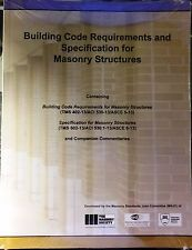 530/530.1-13: Building Code Requirements and Specification for Masonry Structure