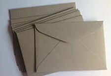 20 Envelopes 100 Recycled C6 Quality Weight Natural Pulp Envelope Grey /brown