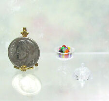Dollhouse Miniature Handcrafted  Easter Jelly Beans in Plastic Candy Dish