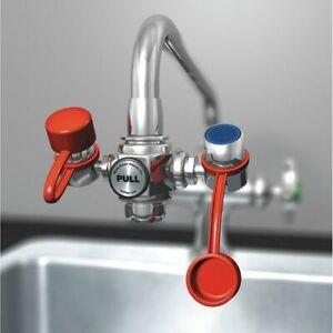 Watersaver Faucet Company Ew100 Faucet Mounted Eyewash Station No Bowl