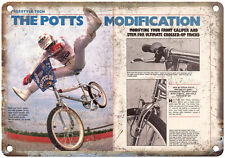 "Vintage BMX Steve Potts, Freestyle BMX 10"" x 7""  Reproduction Metal Sign"