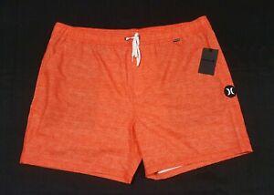 "Hurley Men's Heather Volley 17"" Walk Boardshorts Crimson  size XXL"