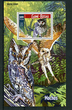 Guinea-Bissau 2015 MNH Owls 1v S/S Birds of Prey Northern White-Faced Owl