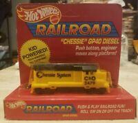 """Hotwheels Railroad 1983 """"Chessie"""" GP40 Diesel Unpunched"""