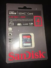 SanDisk Ultra 4 Go SDHC 30MB/s 200X étanche Memory Card camera HD