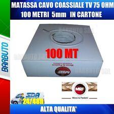 CAVO TV COASSIALE MATASSA DA 100 METRI 5mm IN SCATOLA, ALTA QUALITA', ST53