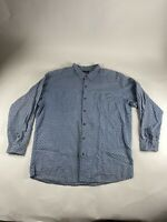 Patagonia Sz XL Gray L/S 100% Cotton Button Shirt
