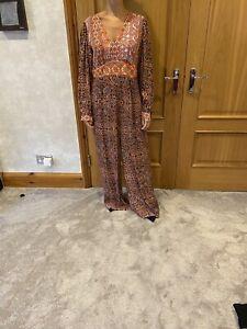 Anthropologie Kachel Patchwork Pink/rose Jumpsuit Sz UK 12 (US 8)/NWT/RRP £158