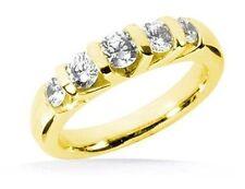 1.01 ct Anniversary Round Diamond Ring Wedding 14k Yellow Gold Band G-H color