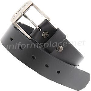 "Levis Leather Belt Mens 1 1/2"" genuine Bridle leather strap with beveled edges"