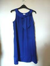 H&M Sleeveless Bow Detail Top/Dress with Satin Hem Size 8 Uk BNWT Royal Blue