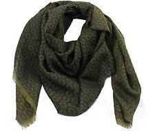 Schal Webschal Jacquard-Punkt modisch grün schwarz 100% Wolle (Merino) R-524