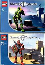 LEGO SETS 8772 & 8773 - RASCUS & SANTIS (CASTLE KNIGHTS KINGDOM 2) BOTH COMPLETE