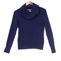 Boston Proper Women's Blue Cowl Neck Pullover Sweater - Size Small