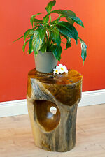 Side Table Wood Root Wood Teakwood Table Flower Stand Plant Stand Massif