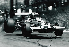 Jacky Ickx Hand Signed Motor Racing Developments Brabham 12x8 Photo.