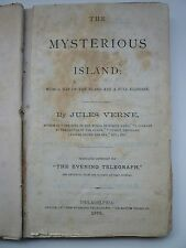 RARE 1876 The Mysterious Island JULES VERNE Stephen William White translation