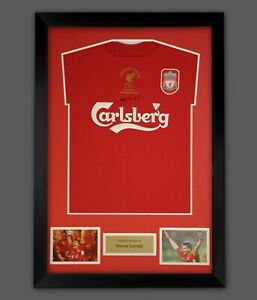 Steven Gerrard Liverpool Fc Signed Football Shirt In A Framed Presentation