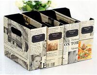 DIY Paper Board Newspaper Storage Box Stationery Makeup Cosmetic Organizer EW