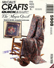 McCall's The Magic Quilt  Pattern 5908 UNCUT