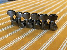 Ibanez Cosmo Black Tuners Tuning Peg 6 Inline Left Dual Pin