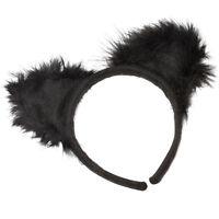 # Adulto Mujer Negro Orejas de gato Accesorio para disfraz