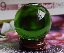 A40mm + Stand Asian Rare Natural Quartz Green Magic Crystal Healing Ball