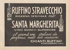 Z1430 Vino Bianco SANTA MARGHERITA - Pubblicità d'epoca - 1928 Old advertising