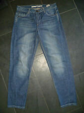 TOPSHOP UK10 W28 L30 Donna Blu Denim Jeans Relaxed Boyfit Bottone BUONE CON