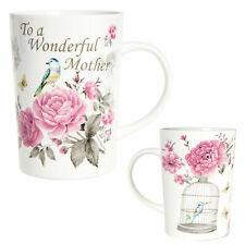 Mother's Day / Birthday - Stoneware Mug - Bird & Flower - To a Wonderful Mother