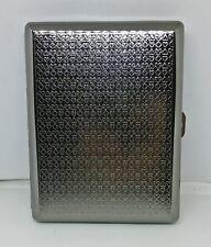 Eclipse Gun Metal Playing Cards Design 100s Size Cigarette Case